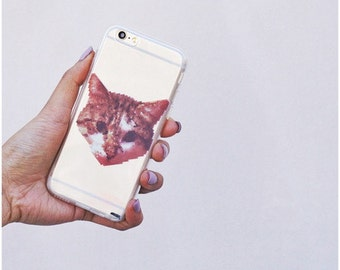 Clear Plastic Case Cover For Iphone 5 5s - Digital Cat