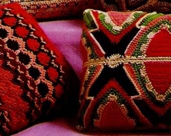 Boho Pillows Vintage Crochet Patterns Download