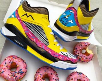 HOMER J'S - Custom Hand Painted NIKE Jordans