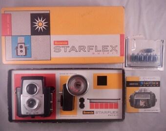 Vintage Kodak Brownie Starflex Camera Dakon Lens Flash Bulbs Instructions in Original Box