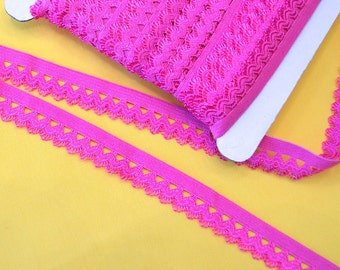 Ruffle rubber 1, 5 cm pink