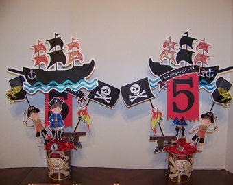 Pirate party double sided centerpieces