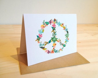 CARD: Peace Flower
