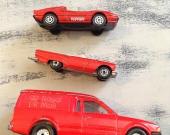 Vintage Retro Collectible Corgi And Matchbox Red Toy Cars - Includes Royal Mail Post Delivery Van