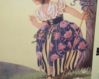 LITTLE BO PEEP - Has Lost Her Sheep - Nursery Rhyme Poster