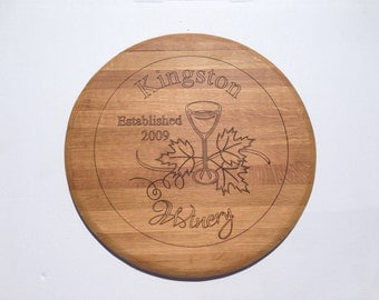 Custom Wine Barrel top wall hanging - Winery