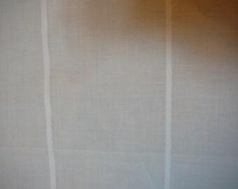 White striped cotton batiste