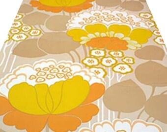 Original MIDCENTURY DANISH POPART Vintage Modern Sunshine Flowers Wallpaper