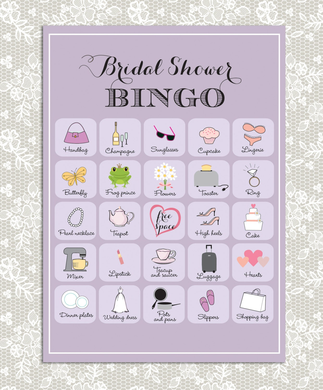 Epic image intended for bridal shower bingo free printable