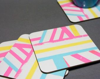 Bright Bar Pattern Coasters SALE WAS 13.00