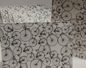 REDUCED PRICE! Bicycle Note Cards with Envelopes, Blank Cards, Steampunk/retro/vintage design