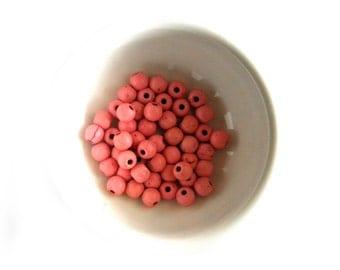 25 Pink Magnesite Beads - 6mm