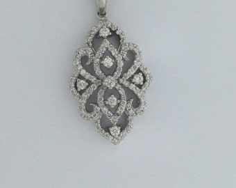 Natural Diamond Necklace 925 Sterling Silver