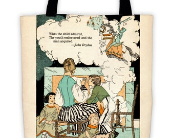 What the Child admired-Inspirational tote bag for teachers and parents