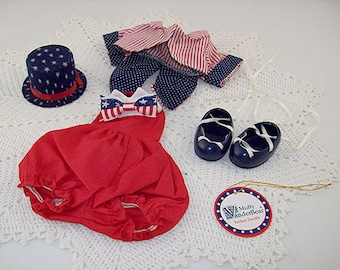 Hoppy VanderHare  Muffy VanderBear Wear Yankee Doodle July 4th Outfit (Inventory #E010)
