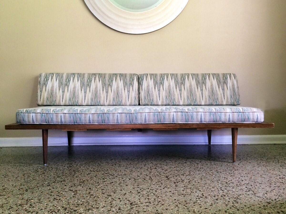 Mid century modern daybed danish modern by retrotherapyrehab for Mid century modern day bed
