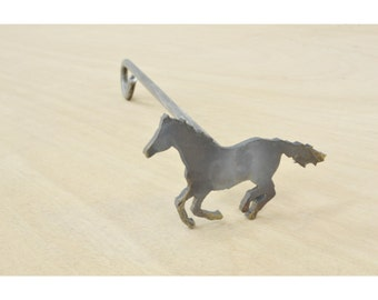 RUNNING HORSE Branding Iron, Steak Brand, Wood burning - 13360-theleatherguymn