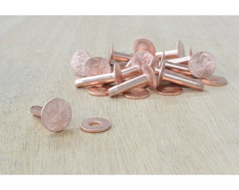 "Number 9 Copper Rivet and Burr Set 3/4"" Leathercraft 15 Pack - 28403"