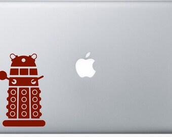 Dalek Decal, Doctor Who Inspired Decal, Dalek Car Laptop Tablet Decal, Doctor Who Car Decal, Doctor Who iPad Decal, Tablet Decal
