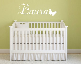 Butterfly Name Decal