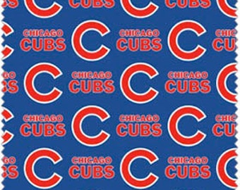 """Chicago Cubs Cotton Fabric 60"""" wide - Fabric by the yard"""