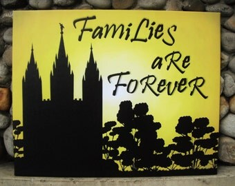 Families Are Forever Temple Canvas LDS
