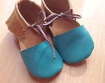 Sandaloos: custom moccasin sandals, you choose your colors, sizes 0,1,2,3,4,5,6