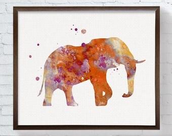 Elephant Art, Elephant Print, Elephant Wall Decor, Elephant Wall Art, Elephant Poster, Elephant Painting, Watercolor Elephant, Contemporary