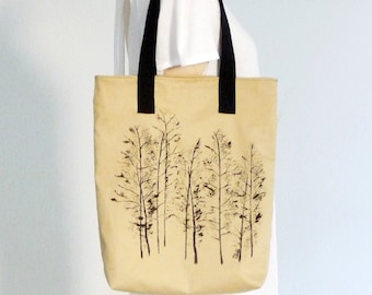 Womens tote,Cotton canvas tote,Handpainted tote bag,Unique tote bag,Stylish tote bag,Casual tote bag,Aspen Trees,Art bags,market tote