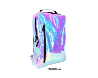 Soap Holographic Hologram Oily Spill Iresdescent Backpack Bag Mochila