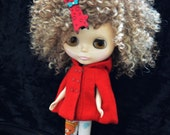 Frosty Blonde Afro Curly Wig Blythe and American Girl Dolls