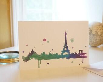 Blank Greeting Card, Paris France