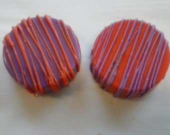 12 Clemson University Tigers Inspired Candy Covered Oreos-Perfect For Tailgate Parties/Sorority/Frat Parties/Alumni Events/Weddings/Gifts