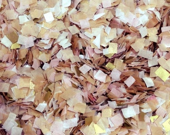 Gold Blush White Sparkly Glittery Confetti Wedding Baby Girl Shower Biodegradable  InsideMyNest (25 Guests)