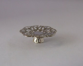 Cake Stand / Plate ~ Metal  ~ 12th Dolls House Miniature