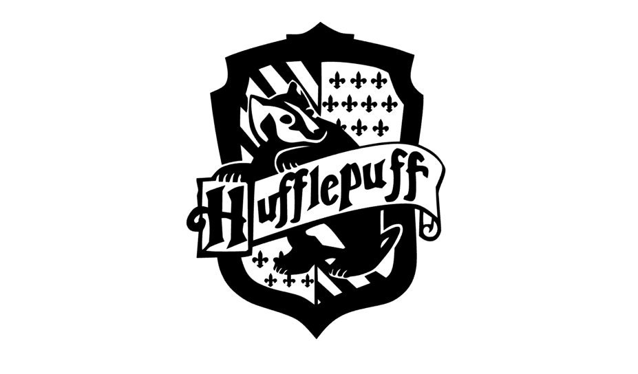 Hufflepuff Crest Harry Potter Decal on Color The Stars 5 Coloring Page