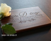 Gift for Newlyweds, Custom Cutting Board, Personalized Cutting Board, Wedding Gift, Anniversary Gift, Bridal Shower Gift, Monogram