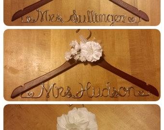 Custom Bridal Wooden Hanger
