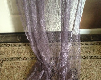 Gorgeous purple / lavender lace curtains