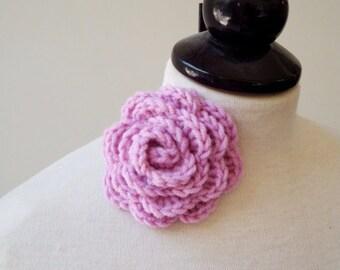 Flower brooch-Crochet pin brooch-Crochet Brooch-Rose flower-Crochet Jewelry-Brooch Flower pin-Crochet pin-Personalized womens-Pin brooch