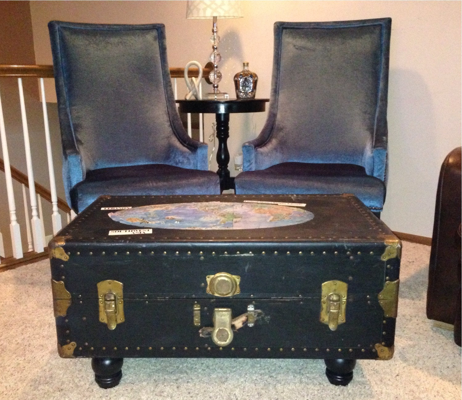 Antique Trunks As Coffee Tables: Upcycled Vintage Trunk Coffee Table By ChaseArnettDesign