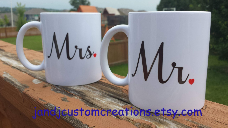 Mr and Mrs Coffee mugs personalized Coffee Mug Wedding gift