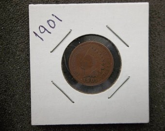 Vintage 1901 Indian head penny
