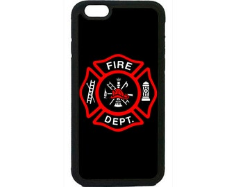 Firefighter Fireman Logo Black Fire Case Cover for iPhone 4 4s 5 5s  5C 6 6s 6 Plus 7 7 Plus iPod Touch 4 5 6 case Cover