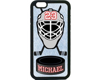 Personalized Number and Name Hockey Case Cover for iPhone 4 4s 5 5s 5c 6 6s 6 Plus ipod Touch case