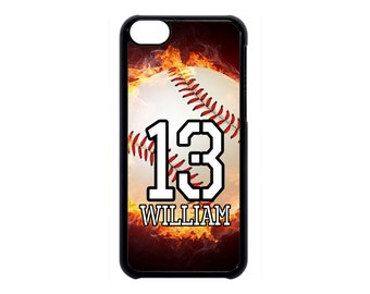 Personalized Number and Name Baseball Case for iPhone 4 4s 5 5s 5c 6 6s 6 Plus iPod Touch case
