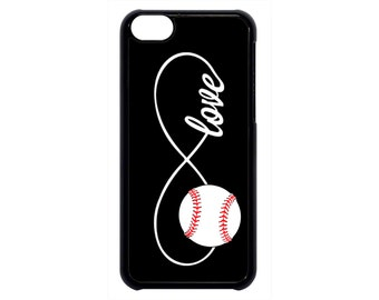 Infinity Baseball Forever Love Black Case Cover for iPhone 4 4s 5 5s 5c 6 6s 6 Plus iPod Touch case