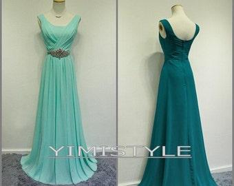evening dress chiffon, evening dress long , party dress, prom dress long , prom dress in handmade , evening dress in handmade