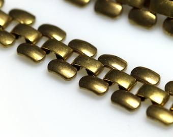 "1 meter 3.3 feet  3/8"" 10 mm raw brass chain for bracelet finding chain"