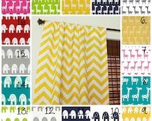 Nursery Curtain Panels Elephant Drapes Giraffe Curtain Panels Elephant Curtains Gray Curtains Baby Boy Curtains Baby Girl Curtains